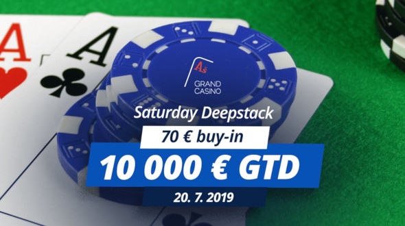 Saturday Deepstack o €10,000 GTD