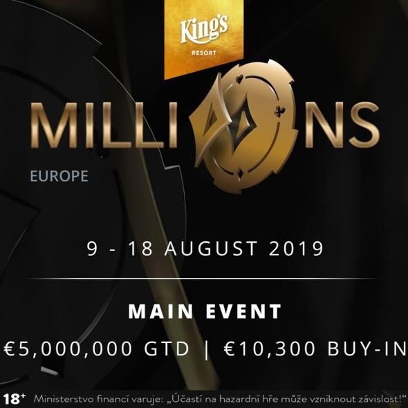 Ve středu začíná hlavní turnaj partypoker MILLIONS Europe s garancí €5,000,000