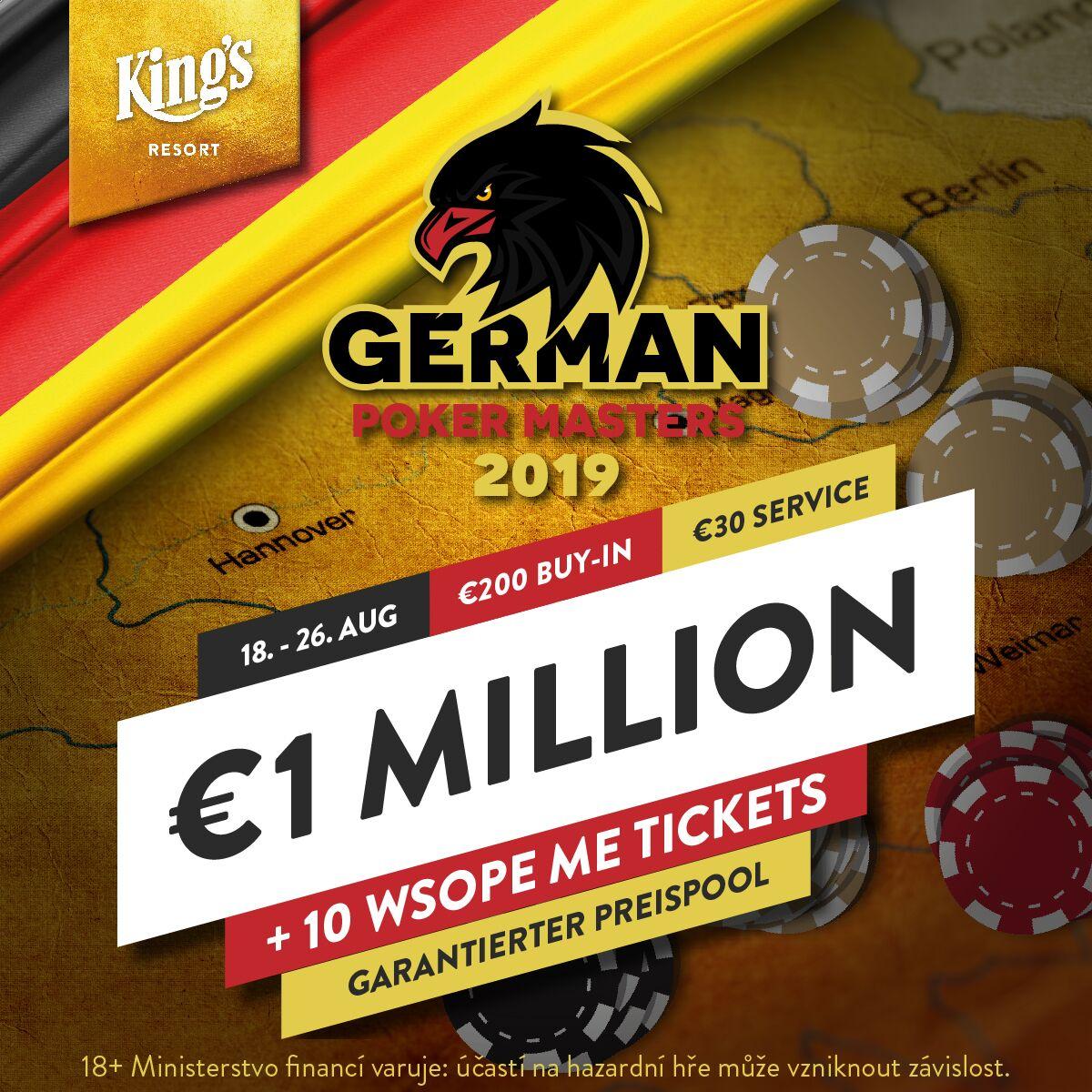 Staňte se součástí rekordního turnaje! German Poker Masters v King's čeká 7 tisíc registrací