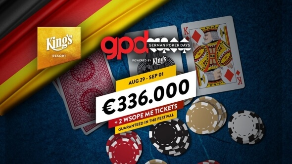 German Poker Days se vrací do King's s garancí €336,000