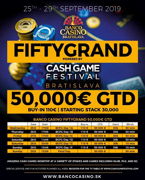 Banco Casino FiftyGrand o €50,000 GTD