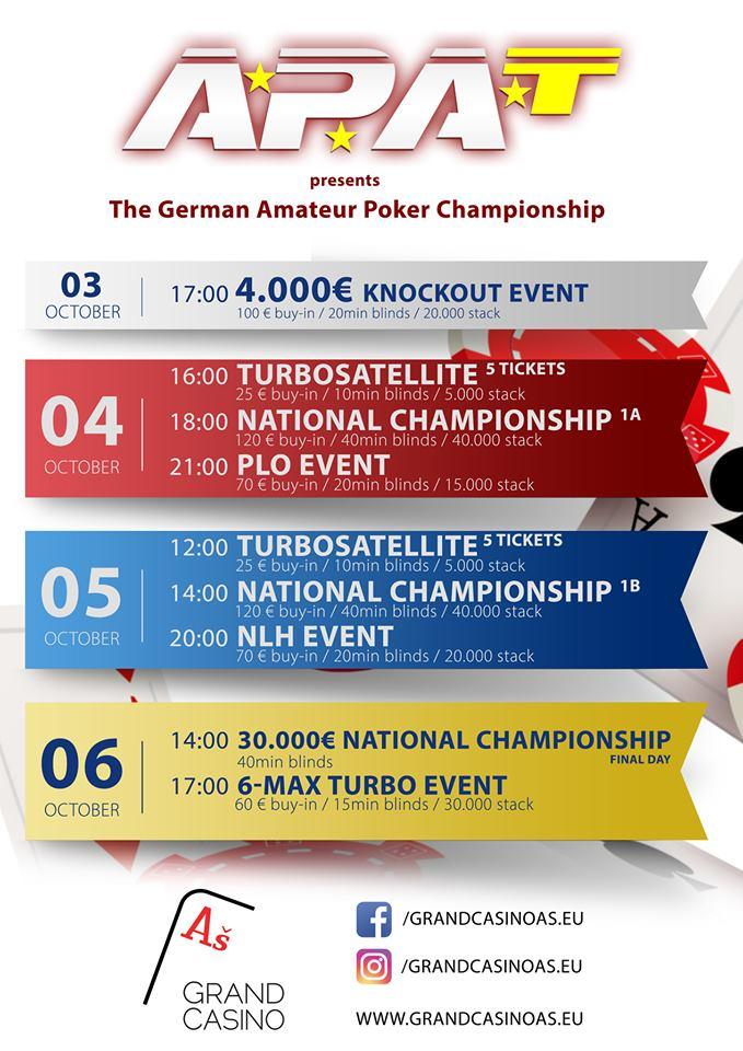 Program APAT German Amateur Championship
