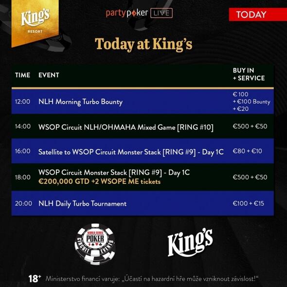 Úterní program v King's