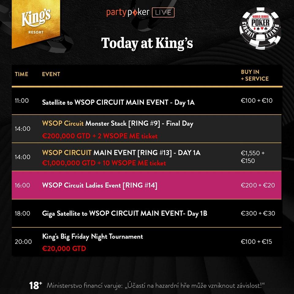 Páteční program v King's