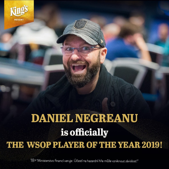 Daniel Negreanu vítězí v žebříčku WSOP Player of the Year