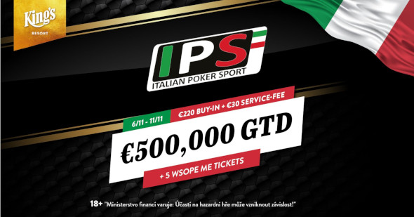 Italian Poker Sport se vrací do King's s garancí €551,750