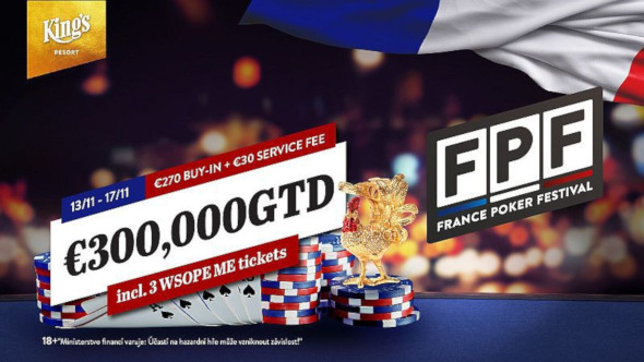 France Poker Festival míří do King's s garancí €300,000