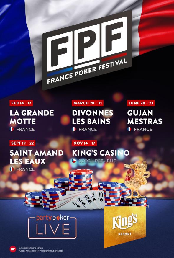 France Poker Festival je součástí partypoker LIVE