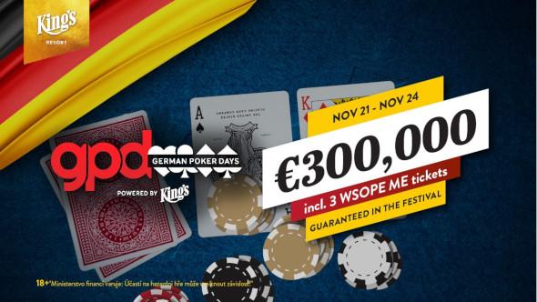 King's: German Poker Days přivážejí téměř €400,000 vgarancích