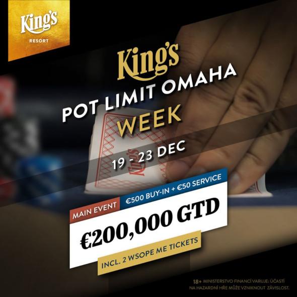 Tento týden bude v King's patřit Pot Limit Omaze