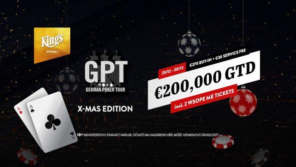 Ve vánoční edici German Poker Tour si zahrajete o€200,000 GTD