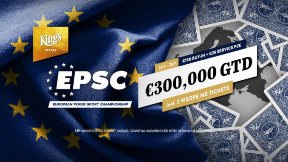 Tento týden čeká King's European Poker Sport Championship s garancí €300,000