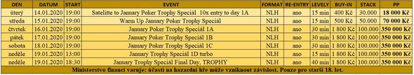 Program January Poker Trophy Specialu