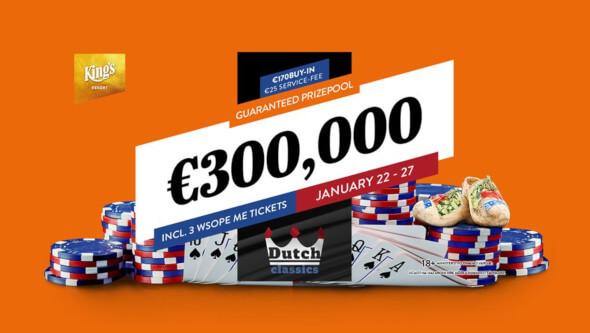 Nejméně o €300,000 se bude hrát také tento týden v Dutch Classics