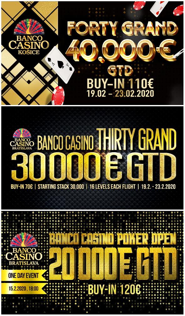 Únorové turnaje v Banco Casinu Bratislava