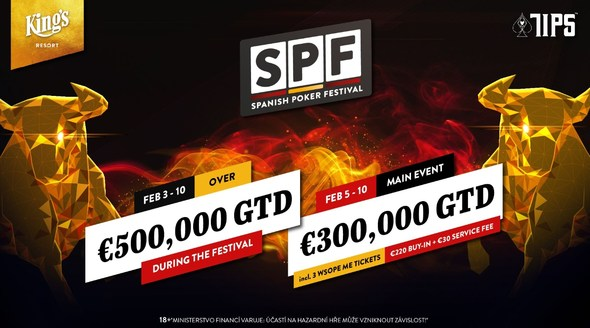 Spanish Poker Festival s garancí €500,000 startuje v King's Resort!