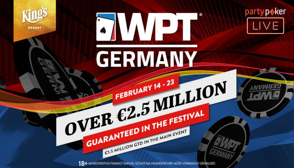 World Poker Tour Germany v King's garantuje přes €2,5 milionu