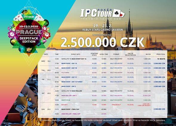 IPC Poker Tour o 2 500 000 Kč v Rebuy Stars