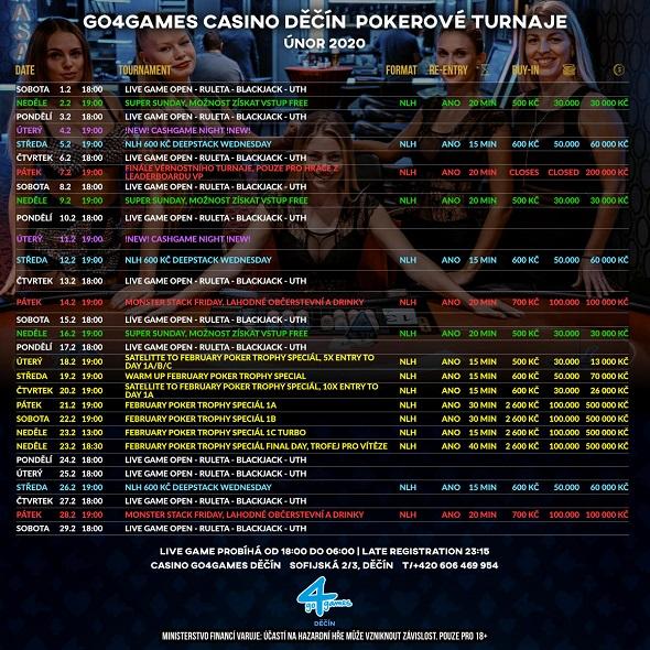 Únorové turnaje vGo4Games Děčín
