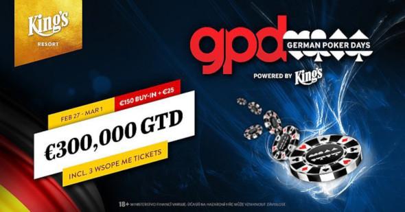 Tento týden nás čekají German Poker Days s garancí €300,000