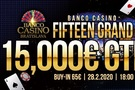 Banco Casino Fifteen Grand o €15,000 - únor 2020