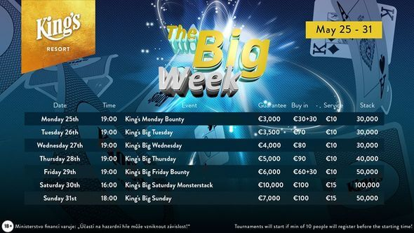 Program Big Week v King's Casinu