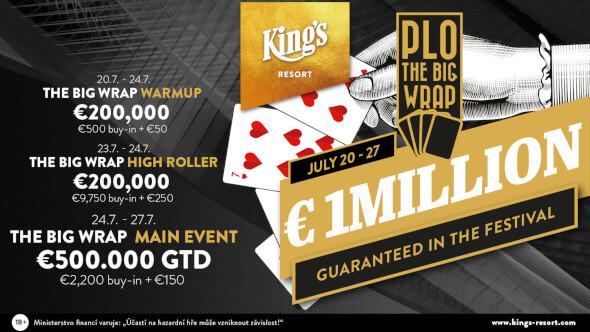 King's: Big Wrap PLO a Vikings Festival garantují €1,000,000