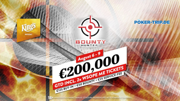 Bounty Hunter Days přivážejí do King's garanci €200,000