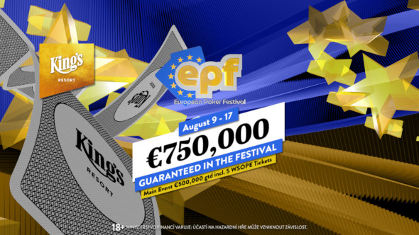European Poker Festival se valí do King's s garancí €750,000