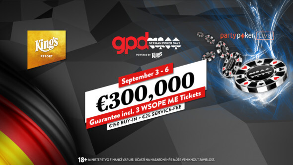 German Poker Days přivážejí do King's garanci €300,000