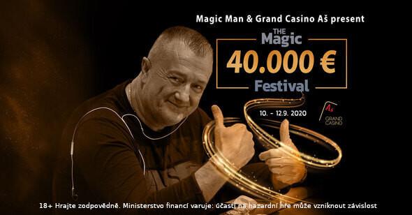Příští víkend bude v Aši kouzelný, Magic Festival garantuje €40,000