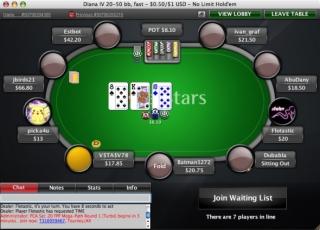 PokerStars Cash Game table